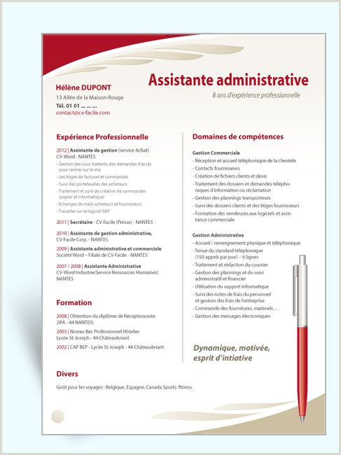 Modele Cv Gratuit Word Libre Modele Cv Unique top Resume
