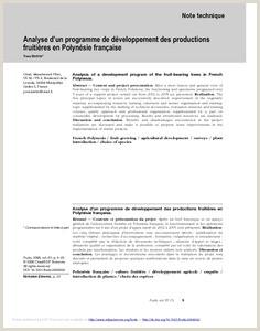 Exemple De Cv Centre Dintérêt Résultats Pour Année 2006 Agritrop
