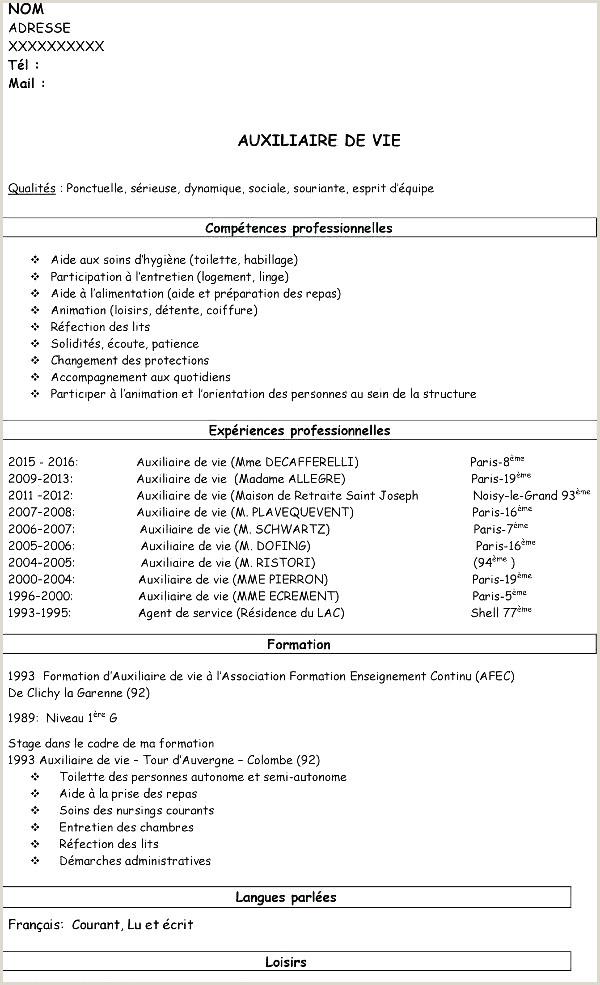 Cv Pour formation Frais Stage Cap Coiffure Lettre De