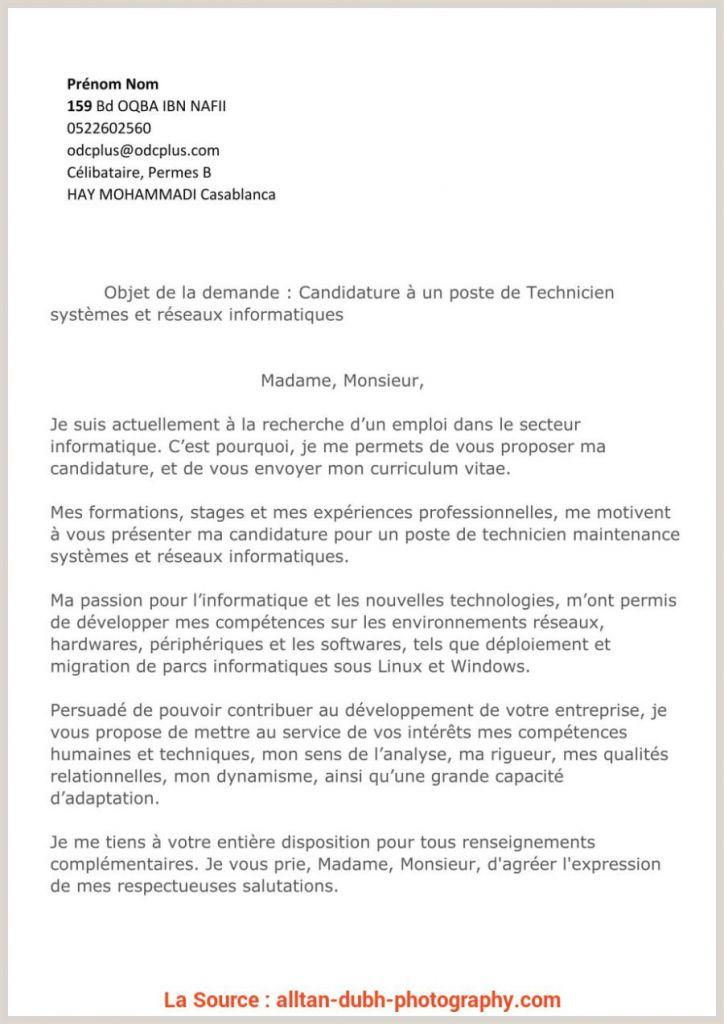 Exemple De Cv De Stage Au Maroc Pdf Idéal Lettre De ...