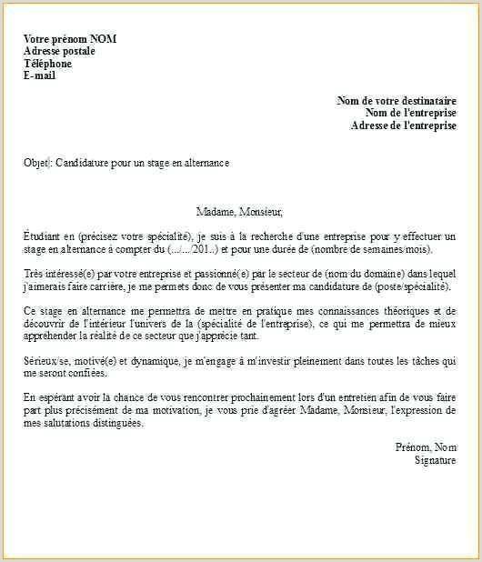 Exemple Cv Pour Bts Alternance
