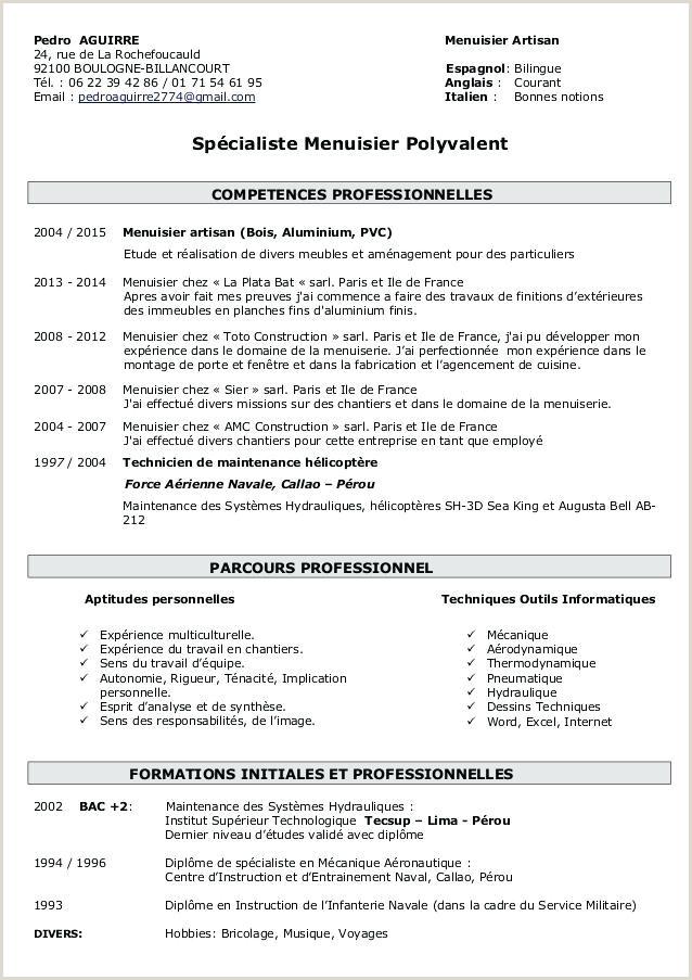 Exemple De Cv Debutant Pdf Lettre De Motivation Maintenance Industrielle Debutant