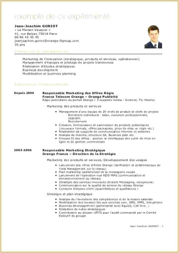 Exemple De Cv Enseignant Nouveau Cv Enseignant Secondaire