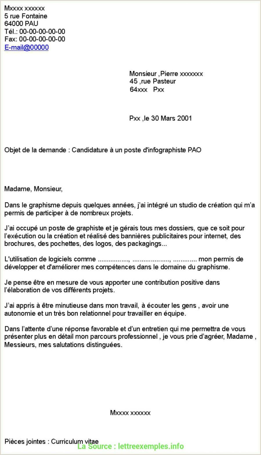 Exemple De Cv Dinfographiste Pdf De Base Lettre De Motivation Graphiste Exemple 14 Lettre De