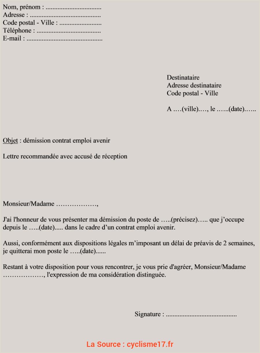 Qualifié Exemple Lettre Demission Transport Lettre Demission