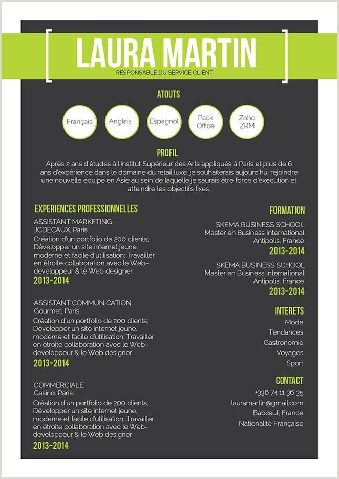 CV sans photo · myCVfactory