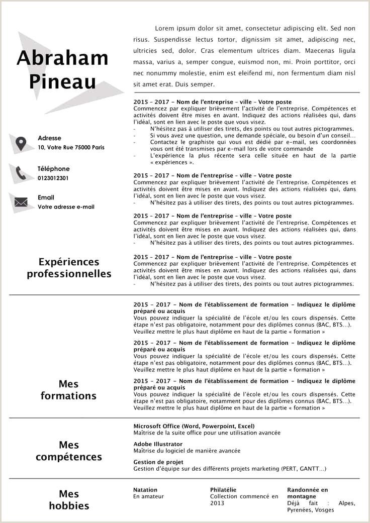 Exemple De Cv Dun Prof Pdf 45 Nouveau Le Cv Xenakisworld