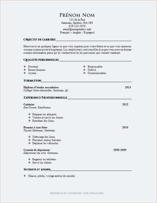 Exemple De Cv Electrotechnique Pdf Luxe 10 Lettre De Motivation Job étudiant Sans Expérience