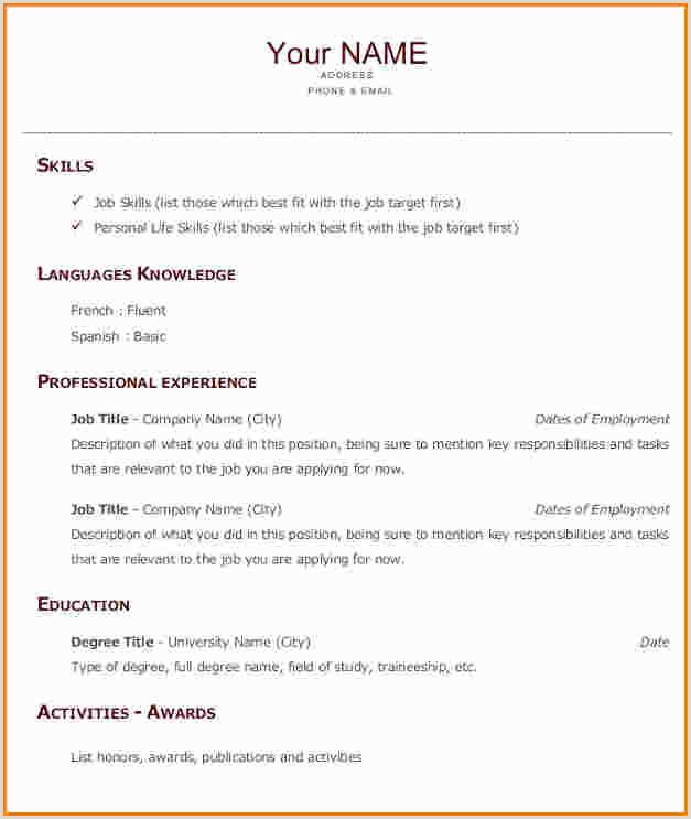 Exemple de cv pdf en anglais
