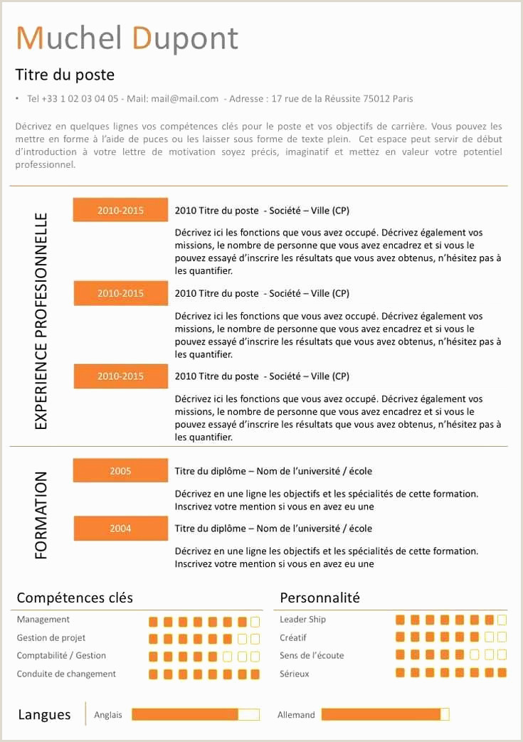 Exemple De Cv En Francais Lettre De Motivation Dominos Le Cv Exemple Modele Cv Cadre