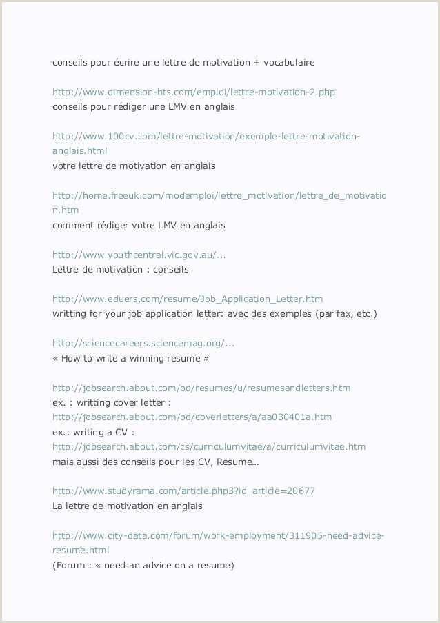 Lettre Cv Modele 14 Cv Exemple étudiant Bac – Savantjournals