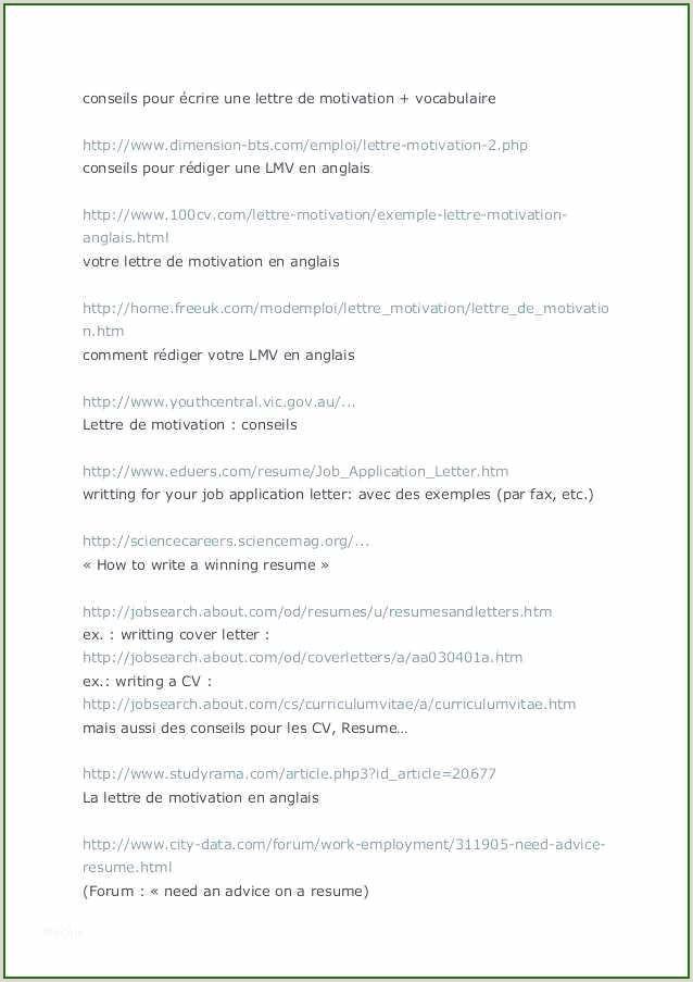 Exemple De Cv En Francais Pour Travailler 14 étonnant Lettre De Motivation Logistique Vous Devez