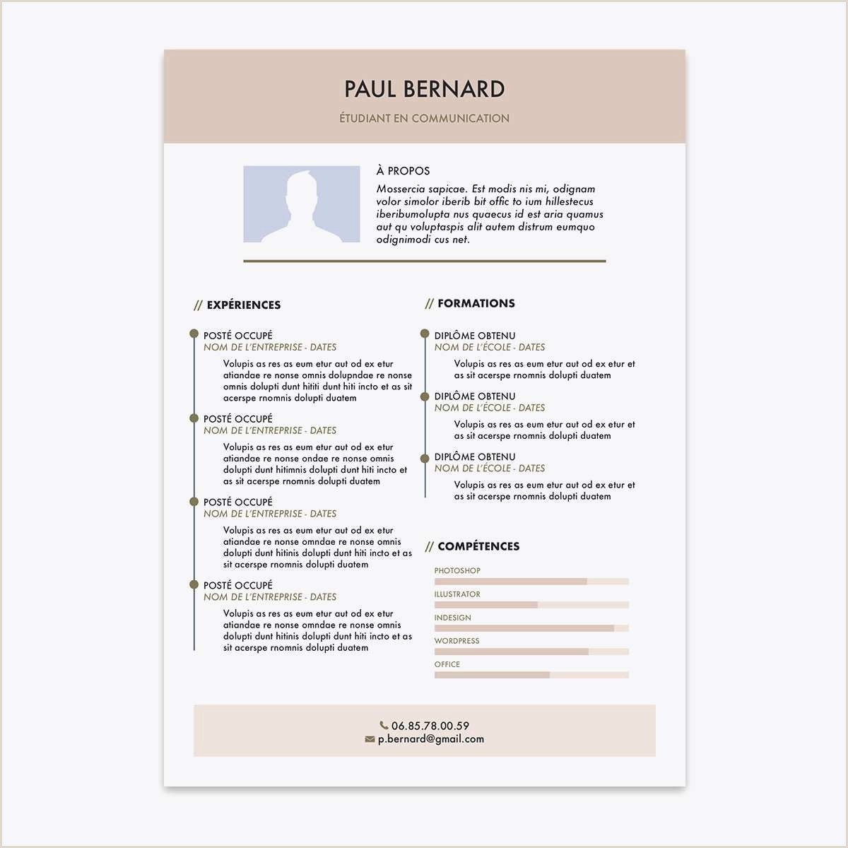 Exemple De Cv En Pdf Gratuit Lettre De Motivation Exemple Type