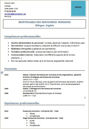 Exemple De Cv Europass Cv Rh Modele