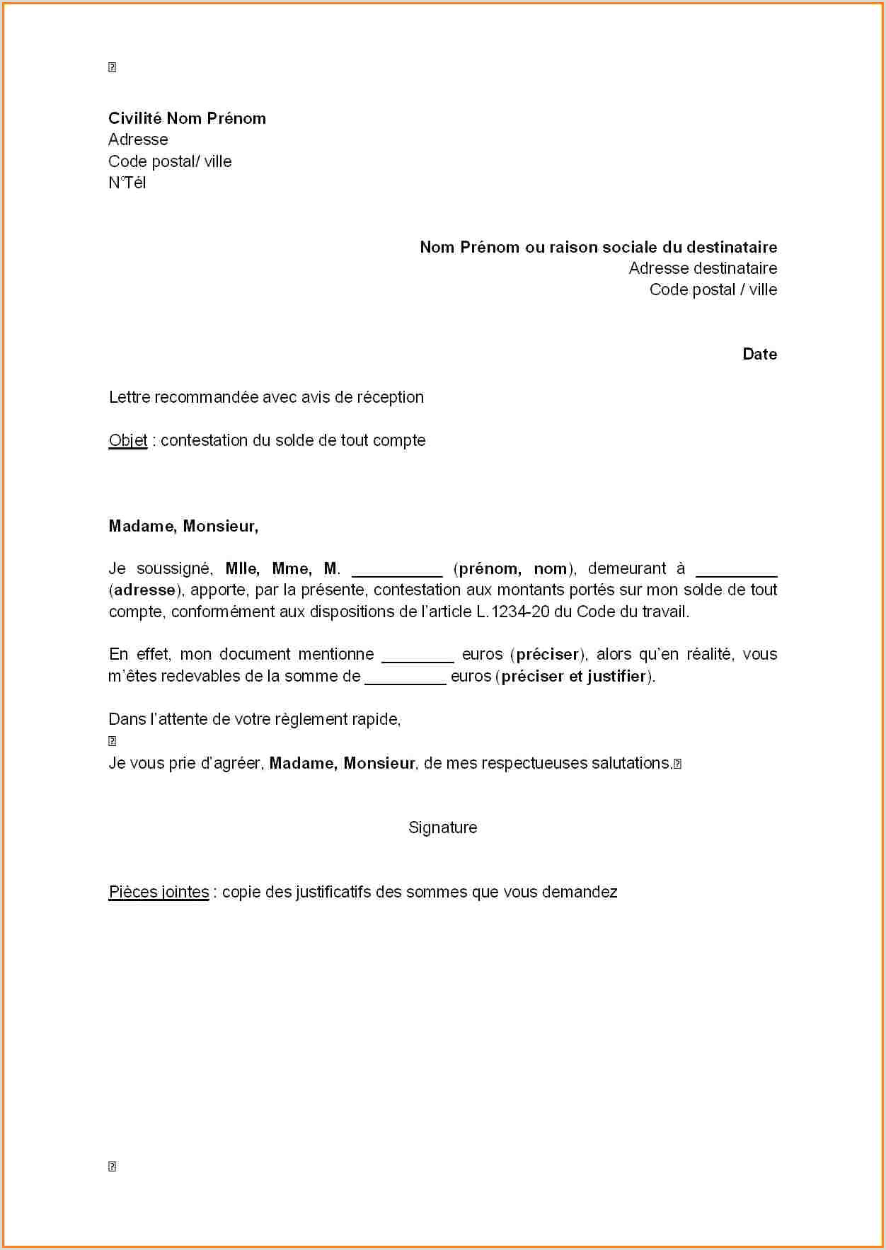 Avis modele cv recent lettre type