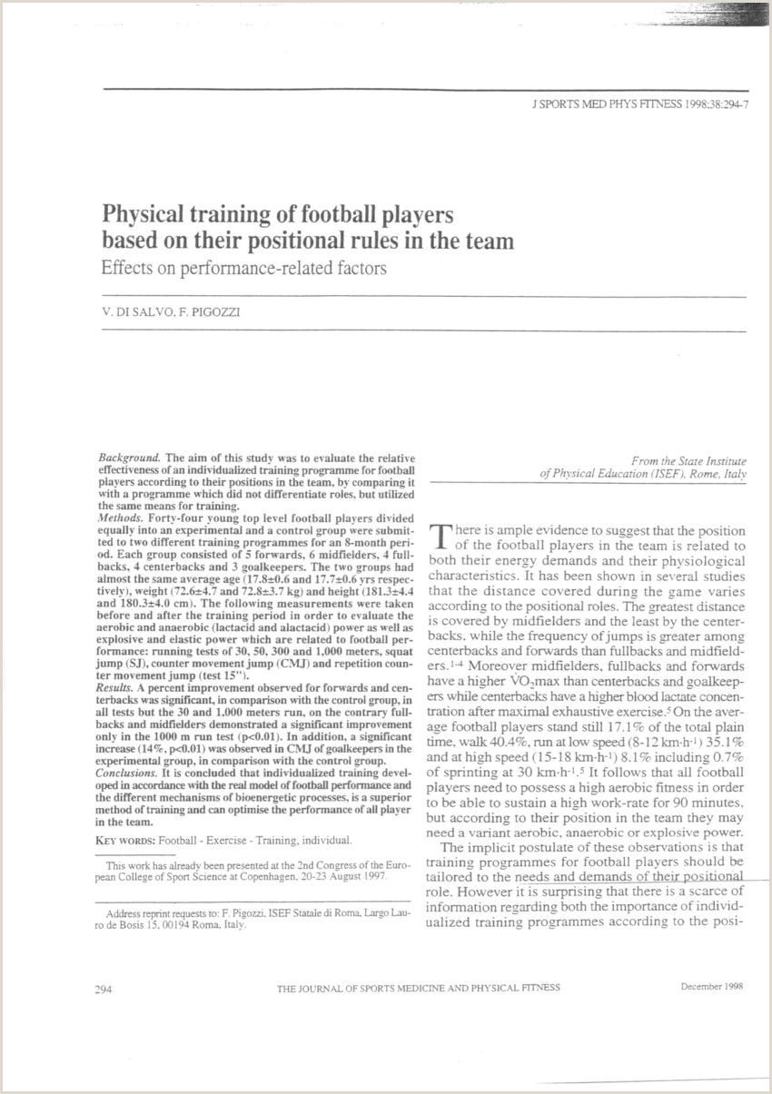 Cv Footballeur Exemple Word Großartig Pdf Physical Training