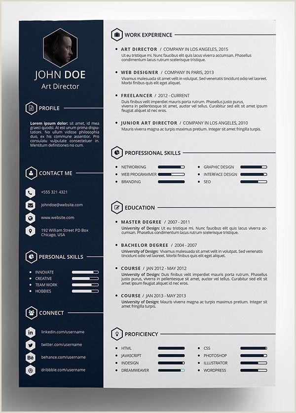 Exemple De Cv forem Luxe Free Creative Resume Template In