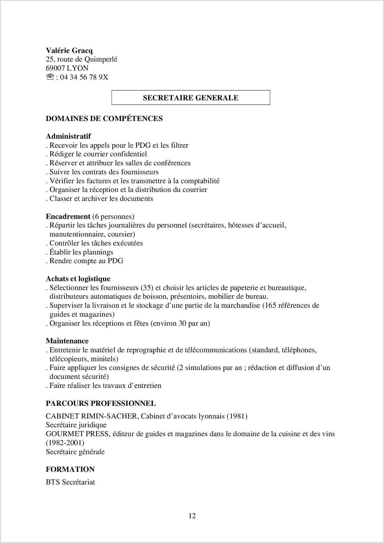 Exemple De Cv formation Cv Pour formation Frais Exemple De Cv Pour formation 12