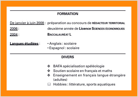 Exemple De Cv Francais Cv En Espagnol Collections De Exemple Cv Alternance Lovely