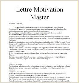 Exemple De Lettre De Motivation Pour Master Maroc