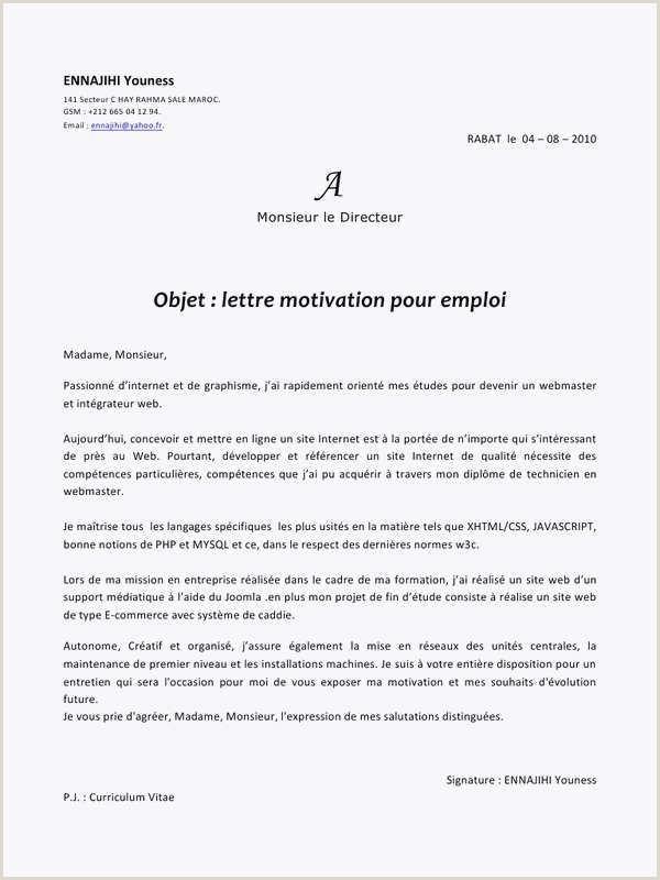 57 Nouveau Collection De Lettre De Motivation Pour