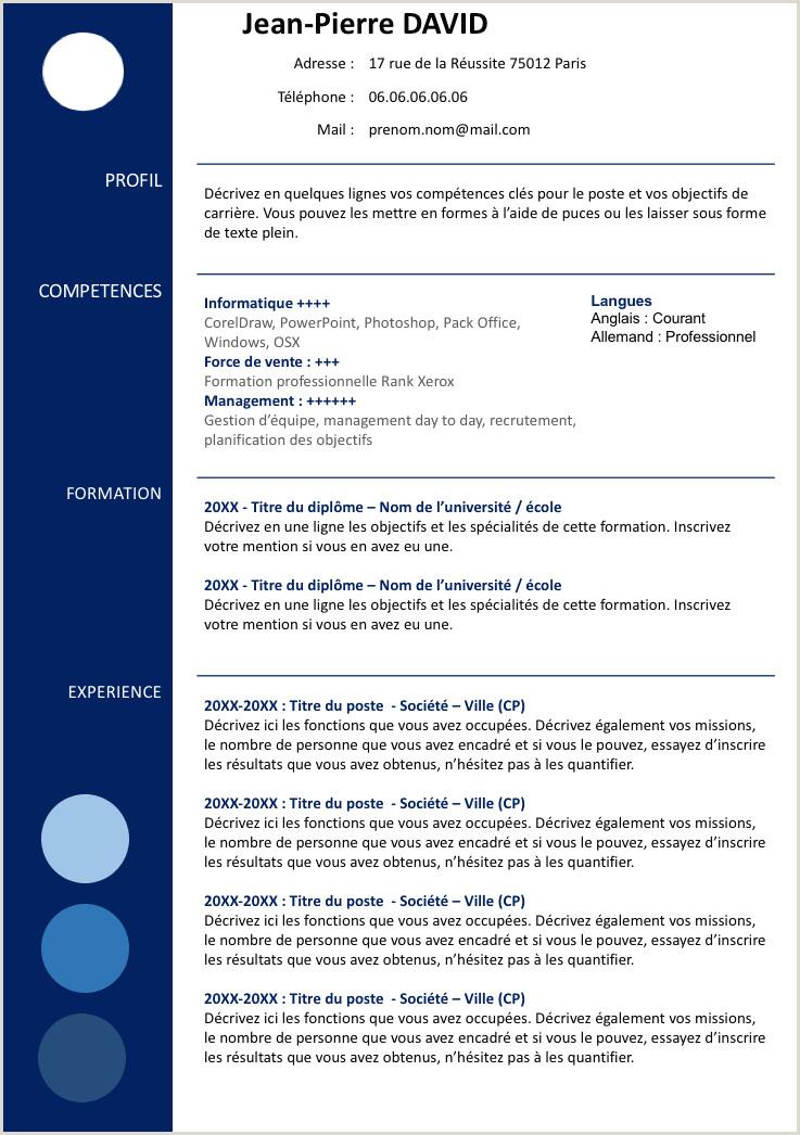 Image mod¨le cv word gratuit  télécharger modele cv