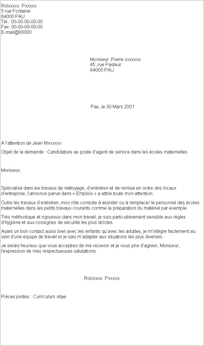 Exemple De Cv Horeca 30 Lettre De Motivation Employé De Bureau Debutant
