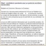 Lettre De Motivation Hotesse D Accueil Standardiste Dc4