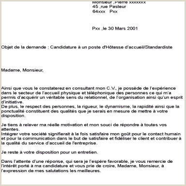 Exemple De Cv Hotesse Daccueil Standardiste Nouveau Lettre De Motivation Pour Un Poste D Hotesse D