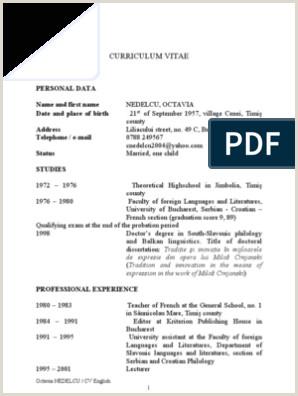 CV engleza Doctorate