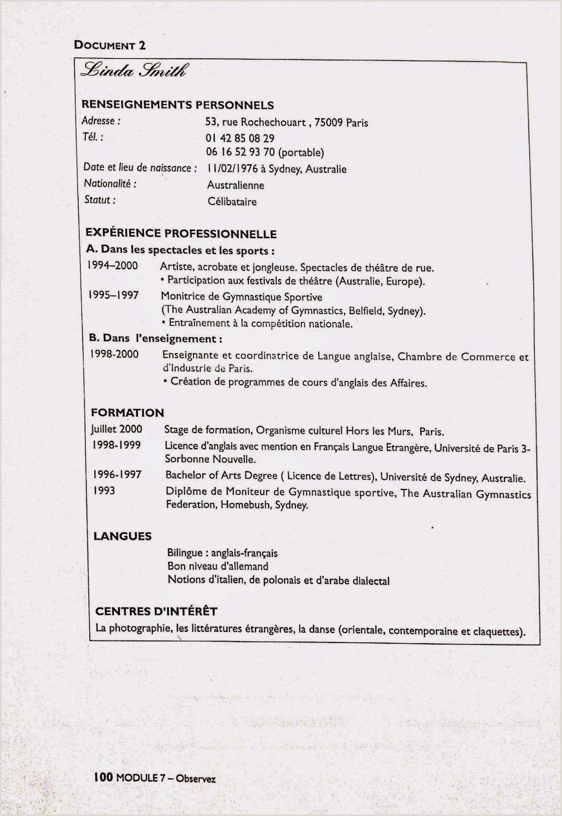 Exemple De Cv Ivoirien Lettre De Motivation 3eme Exemple Lettre De Motivation