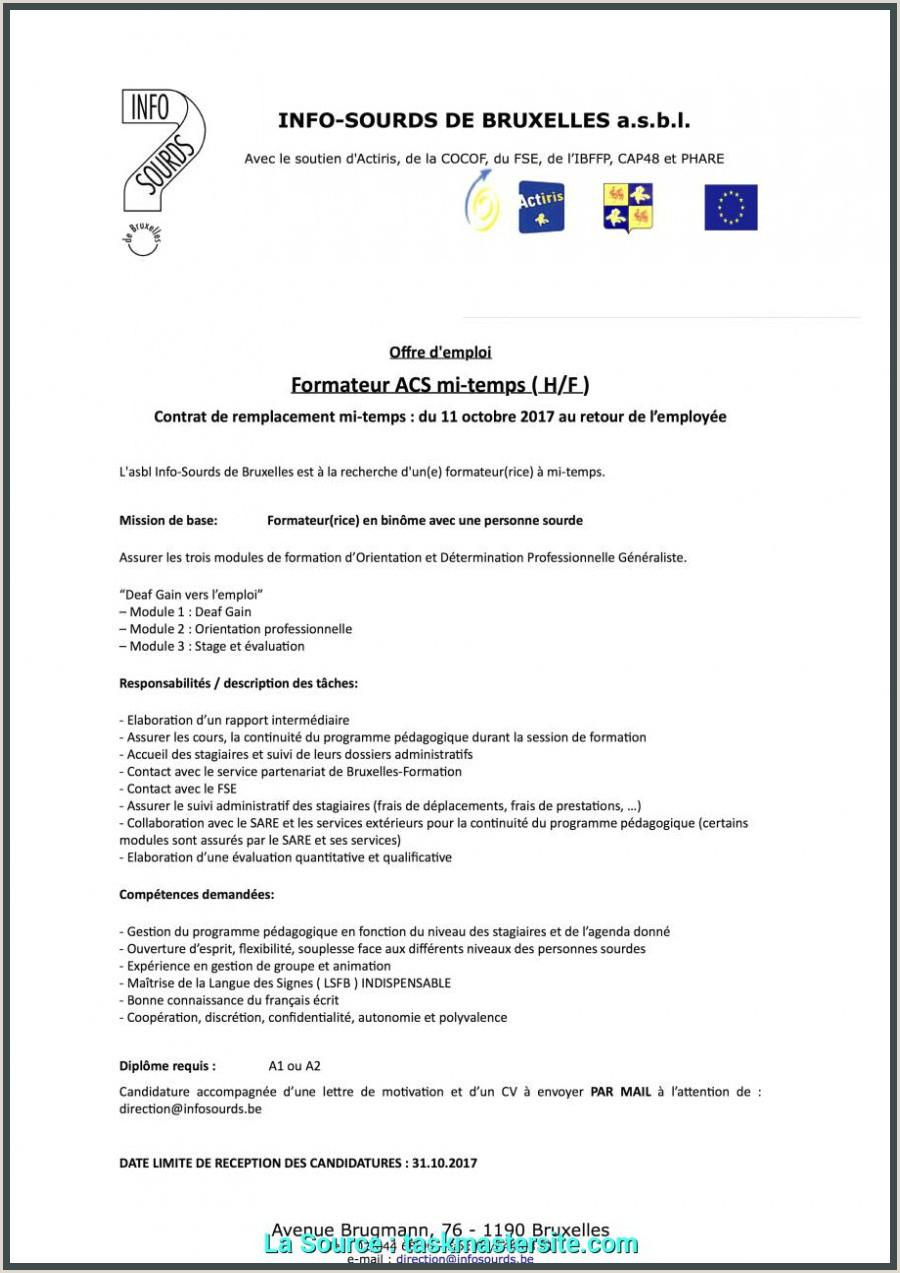 Idéal Exemple Lettre De Motivation Stage D Immersion Modele