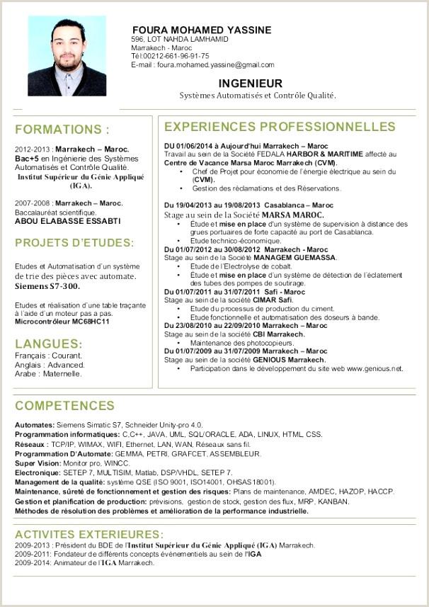 Exemple De Cv Licence Economie Et Gestion Maroc Pdf 74 élégant Graphie De Exemple Loisirs Cv