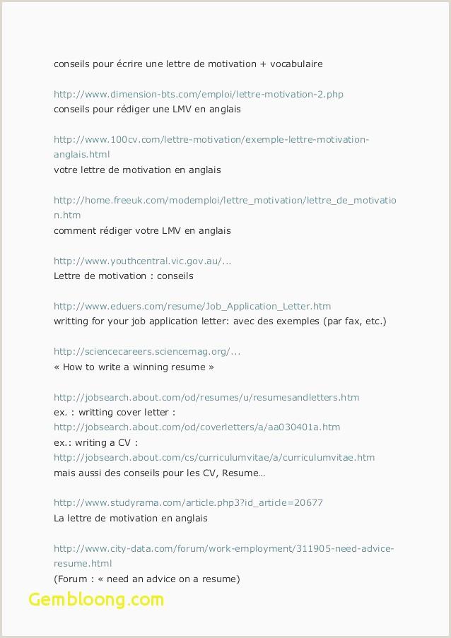 Exemple De Cv Linkedin Exemple De Cv Et Lettre De Motivation En Anglais Gratuit Les