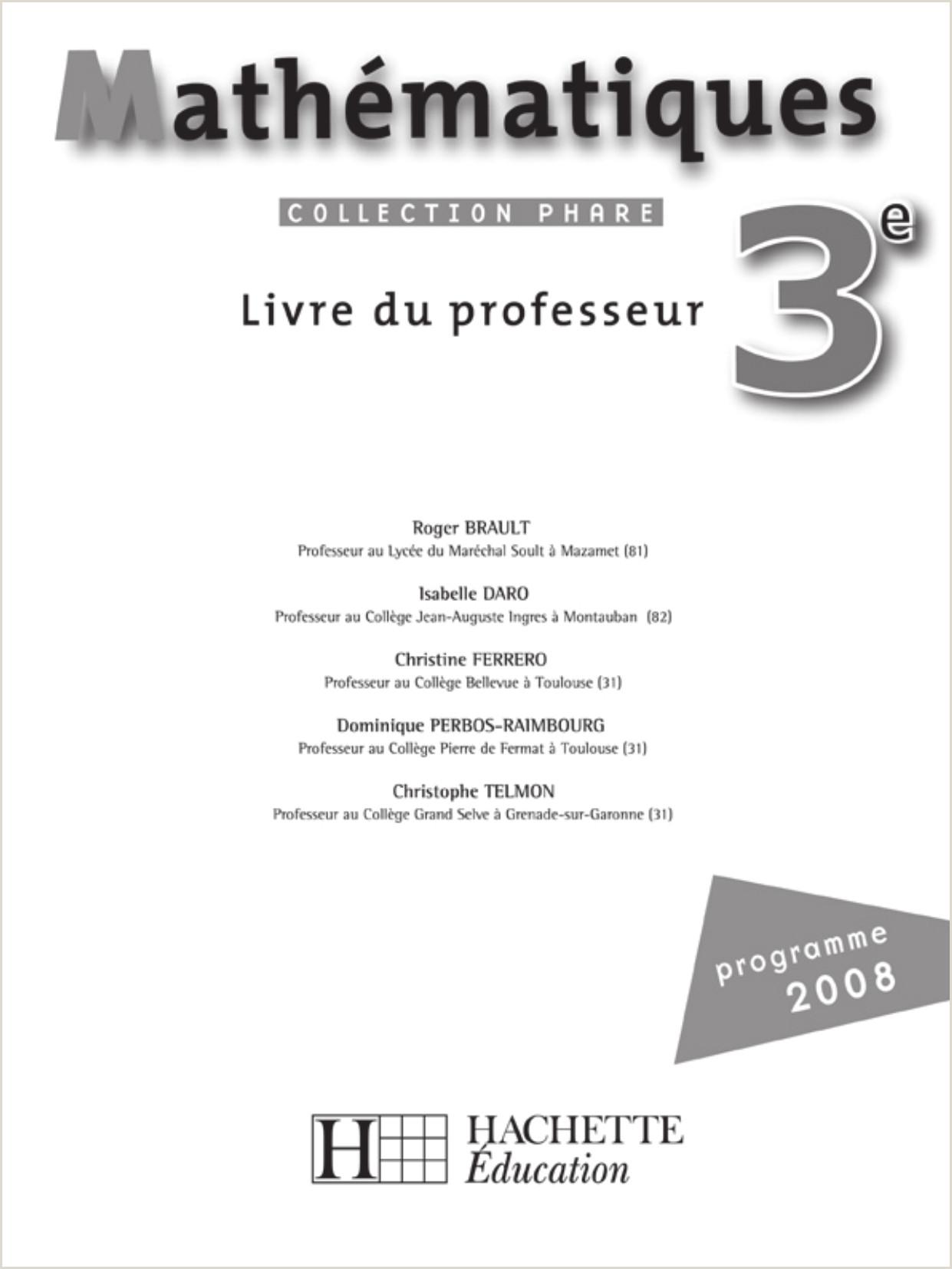 Exemple De Cv Lycée Corection Du Livre De Math Fichier