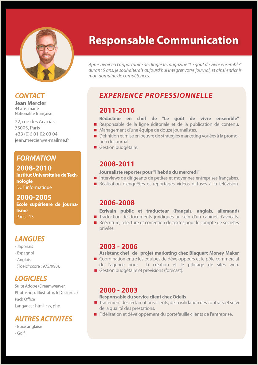 Exemple De Cv Manager 41 De Base Exemple De Cv Manager Mercial