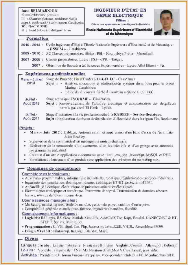 Cv Administrateur Systeme échantillon Exemple Cv Ingenieur