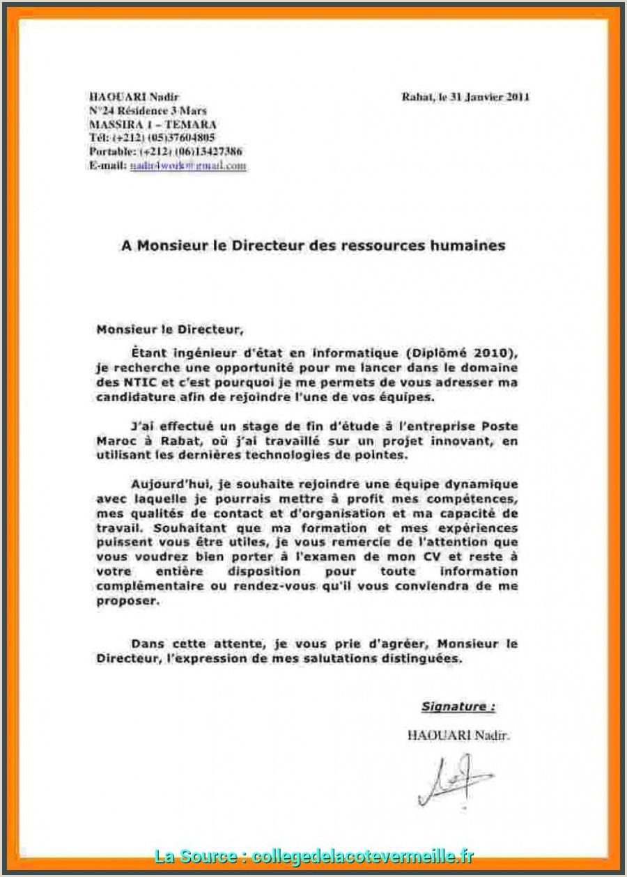 Exemple De Cv Maroc Pdf Plus Récent Exemple De Lettre De Motivation Maroc Pdf