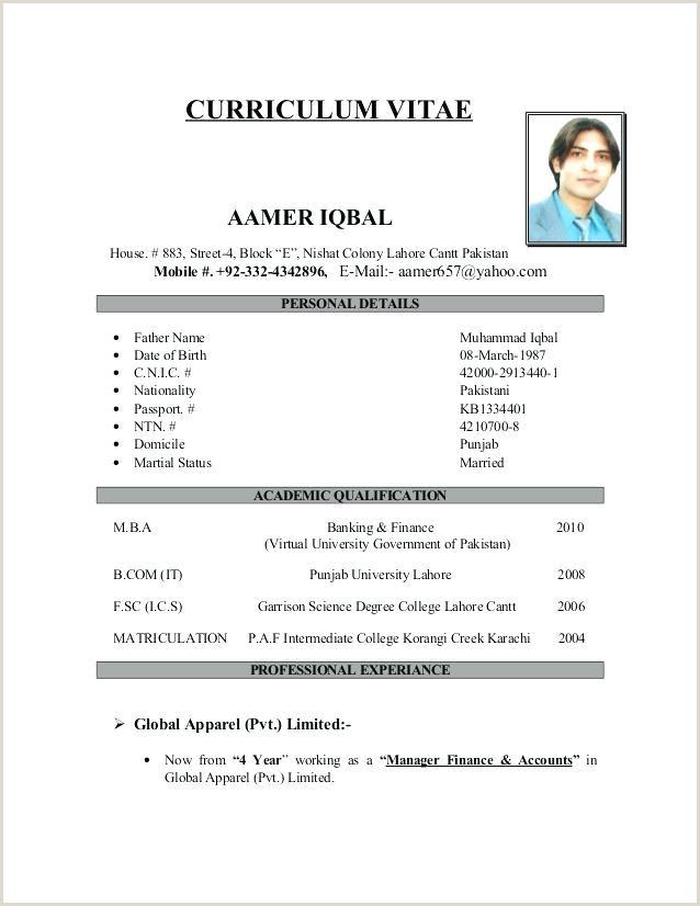Exemple De Cv Marocain Exemple De Cv Simple Pdf Frais Cv Modele Simple Exemple De