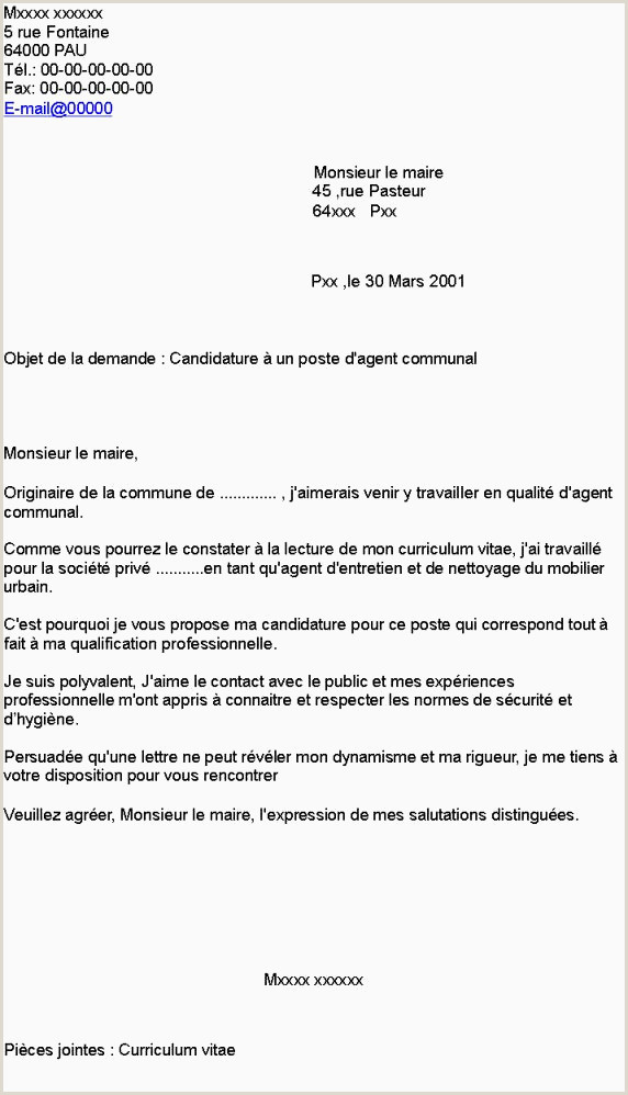 Exemple Lettre De Motivation munauté De munes Cv Agent