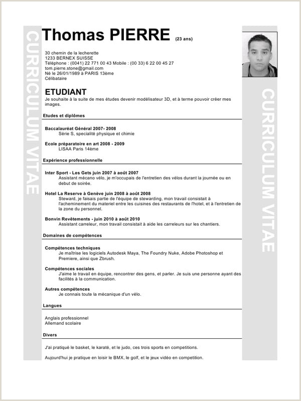 Exemple De Loisirs Pour Cv Independentadvicefrom