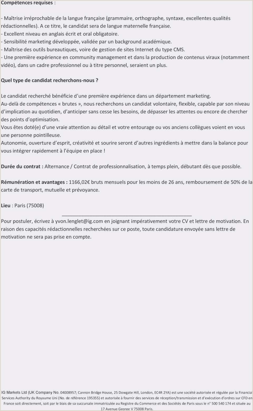 Cv Et Lettre Cv Et Lettre Modele Lettre Cv Modele Annonce