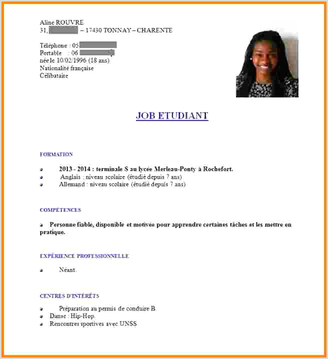 Exemple De Cv Nouveau-brunswick Cv Jeune 16 Ans Nouveau Lettre Exemples Taskmastersite