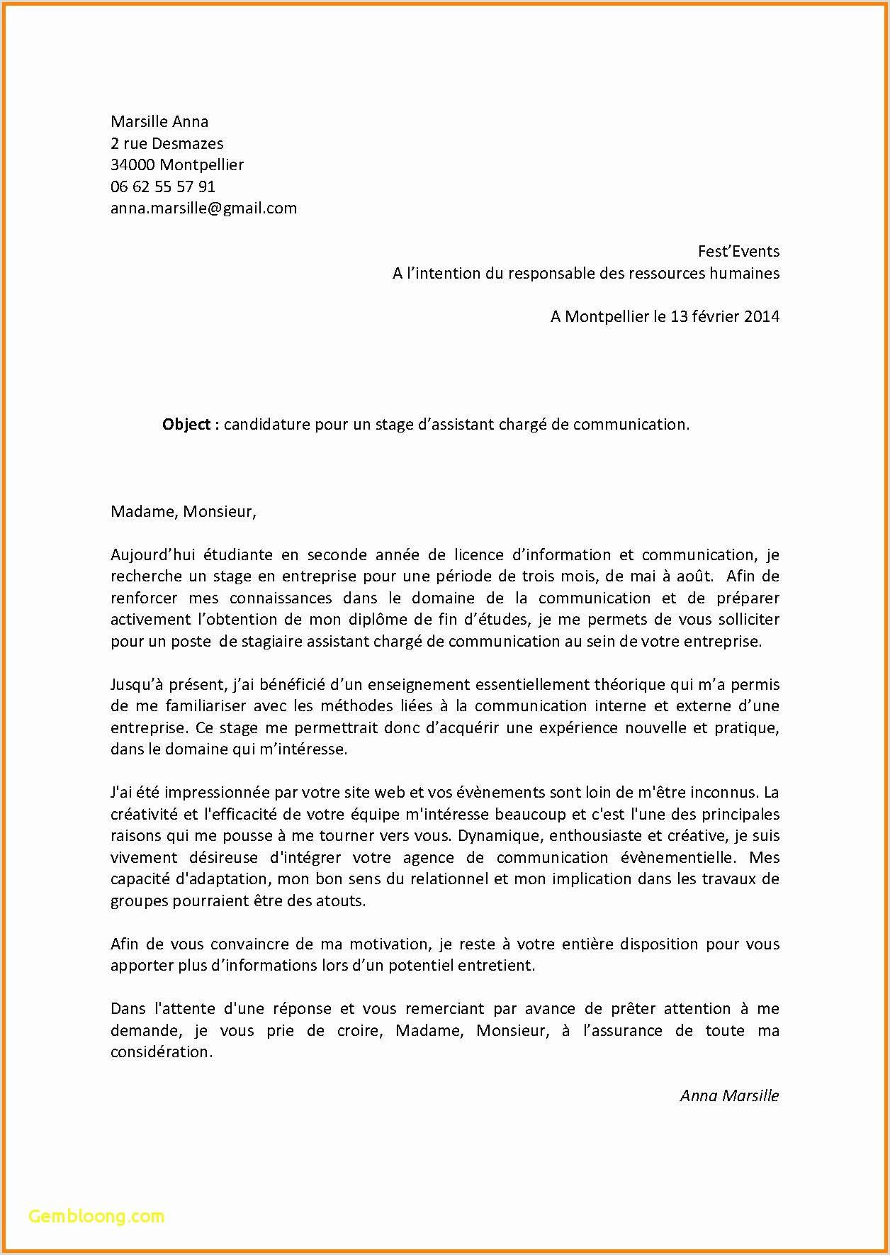 Exemple De Cv Nouveau Diplomé Les Meilleur Exemple De Lettre De Motivation Pour Un Emploi