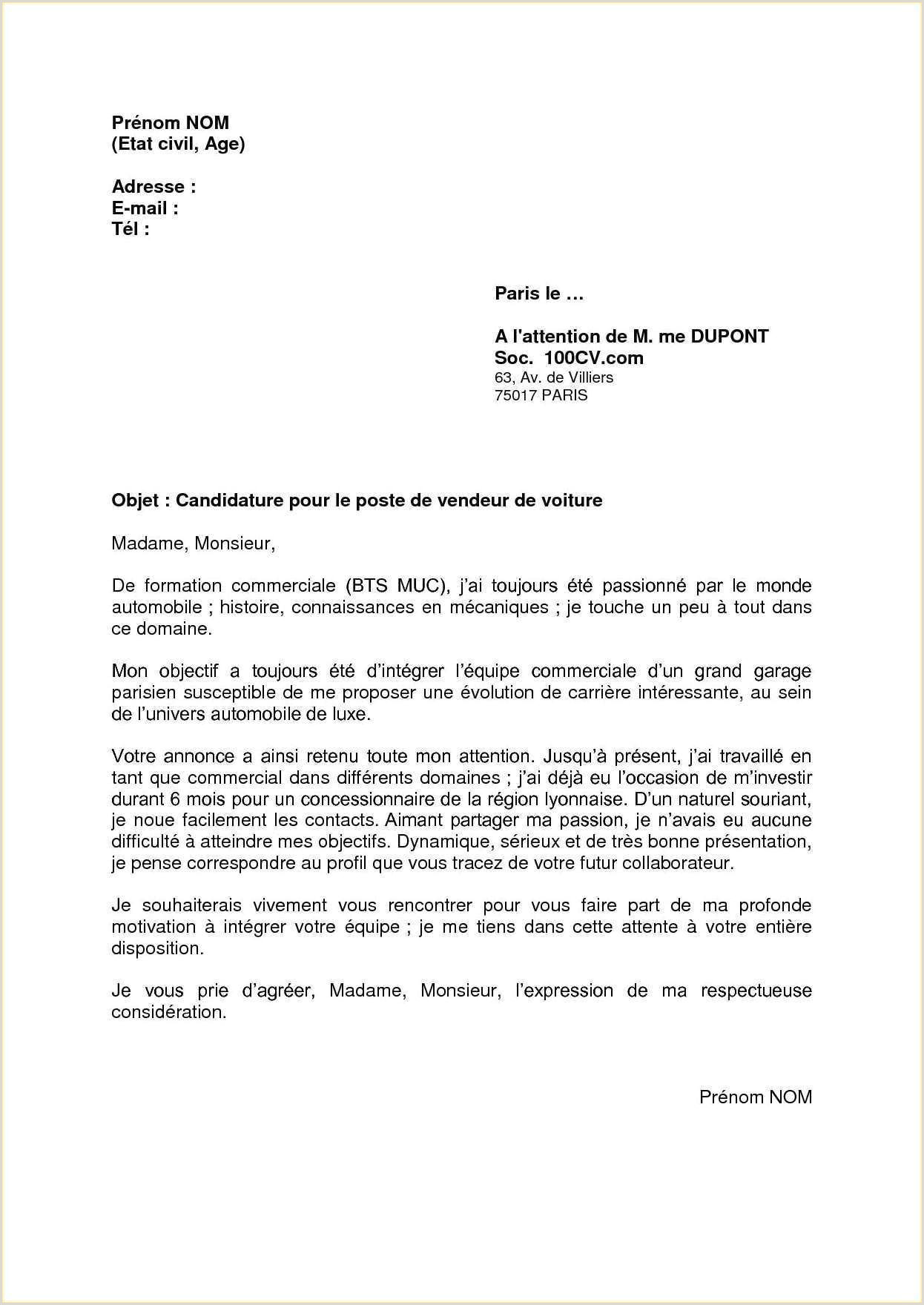 Exemple Lettre De Motivation Stage Bts Nrc Nouvelle Lettre