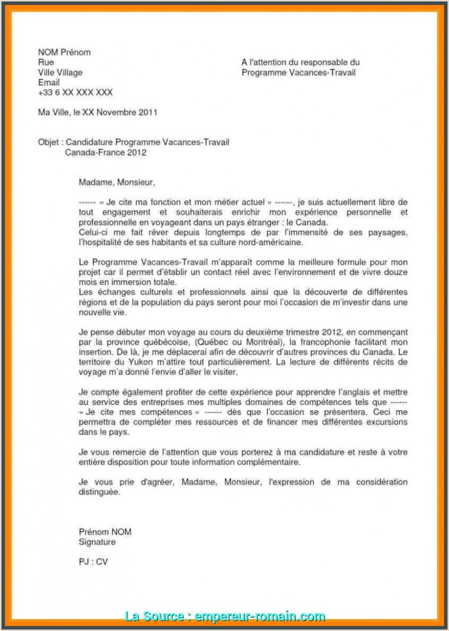 Exemple De Cv Objectif Professionnel Idéal Exemple Lettre De Motivation Stage D Immersion Modele