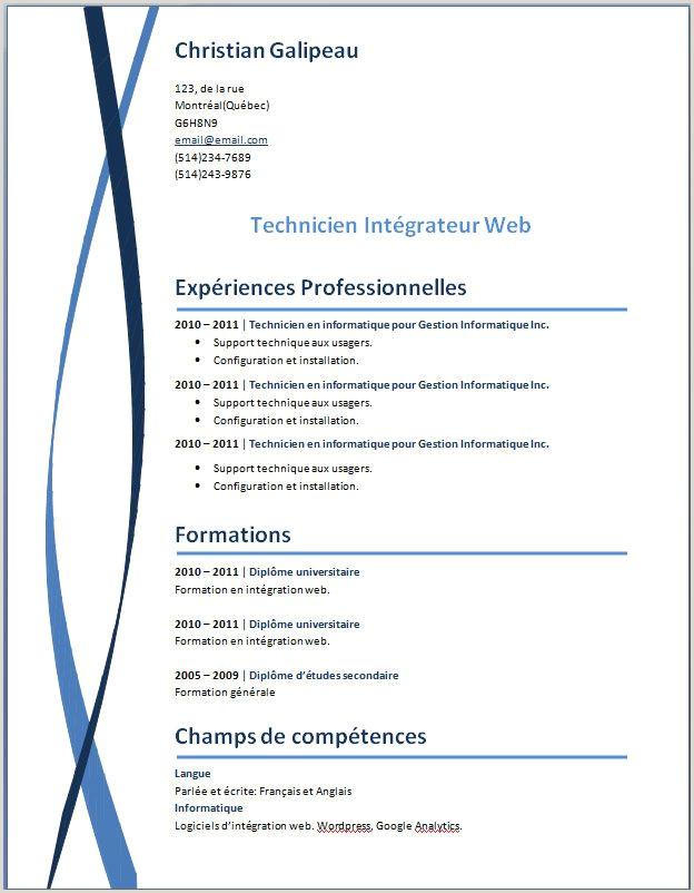 Exemple De Cv Open Office Gratuit 15 Modele De Cv Open Office