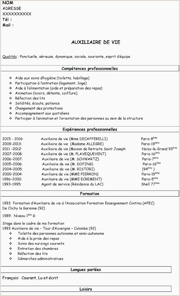 Cv Stage Exemple Libre Modele Cv Stage
