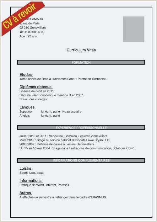 Exemple De Cv orthophoniste Exemple De Cv Collegien Impressionnant Luxe Modele Cv Job