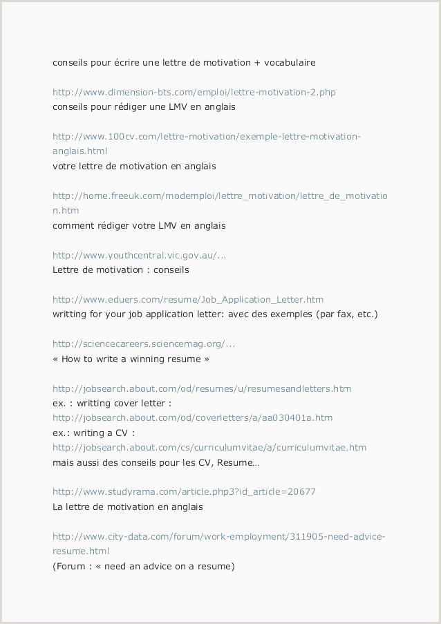 41 Exemple Lettre De Motivation D Employé munal